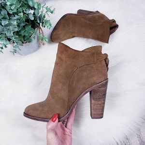 Vince camuto tan suede Linford ankle boots